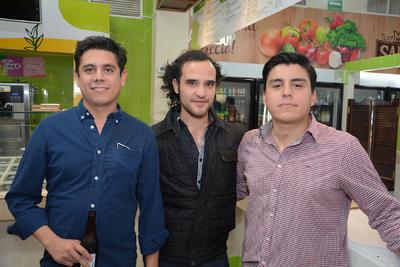 Sergio, Carlos y Felipe.