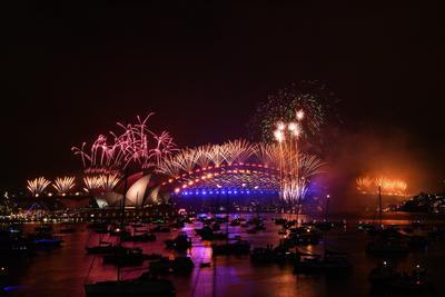 Australia recibe el Año Nuevo con increíble espectáculo