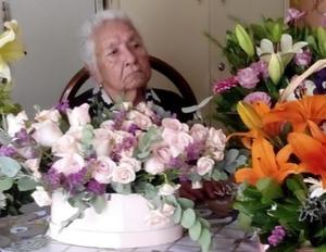 19022021 La señora  Juanita Bustos festejó su cumpleaños número 92.