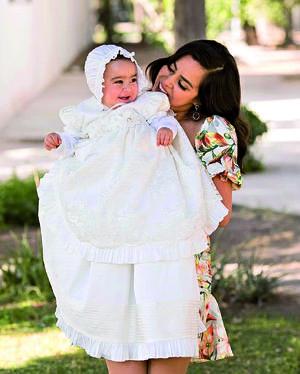 21022021 La bebé Astrid acompañada de su mamá el pasado 13 de febrero.