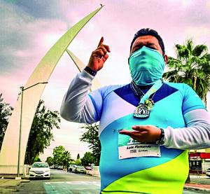 28022021 Por primera vez, el abogado Luis Fernando Hernández Rivera participó en el Maratón Lala en su modalidad Reto 10k.