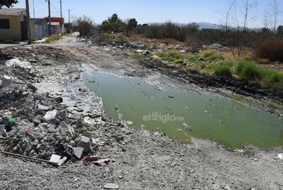Camino sinuoso. Donde debería haber vialidades pavimentadas en plena zona urbana de Torreón hay caminos de tierra que cada vez que llueve se vuelven lodazales.