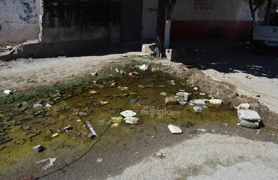 La línea del 'olvido'. La mala calidad del pavimento queda en evidencia frente a la llamada Línea Verde, con los baches que se generan y el agua que se logra acumular; ejemplo de ello son las calles De la Estación y Del Mar.