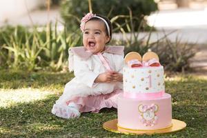 07032021 La bebé Astrid Ibarra festejando su primer cumpleaños el pasado 13 de febrero.