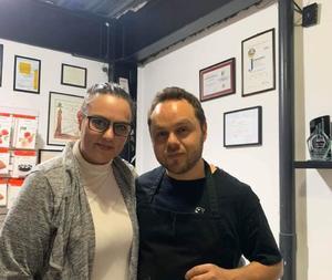 08032021 Junto a Alejandro Lechuga, reconocido chef mexicano.