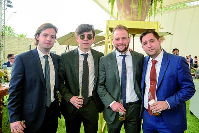 Sergio, Justin, Daniel y Carlos. Celebran unión matrimonial de Said Chaman y Luisa Bracho.