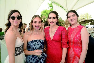 Marifer, María, Nerea y Marianne. Celebran unión matrimonial de Said Chaman y Luisa Bracho.
