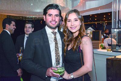 Daniel Aranzabal y Andrea Villanueva. Boda de Karime Silveira y Gustavo Herrera.