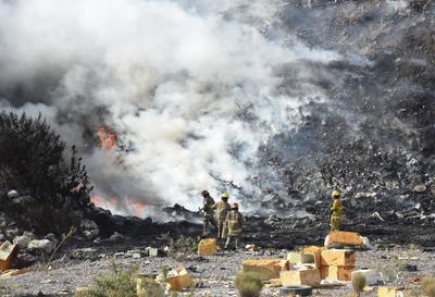 Se registra incendio de basura en lecho del Nazas