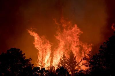 El fuego se originó en la sierra de Arteaga, dentro del estado de Coahuila, pero a solo un kilómetro de Nuevo León, por lo que ya afecta a ambos estados y está avanzando de manera muy rápida, muy agresiva.