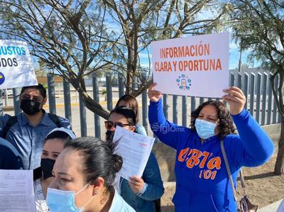 Maestros sistemas como DGTA y CM de los estados de Coahuila y de Durango, exigieron de manera pacífica su basificación.