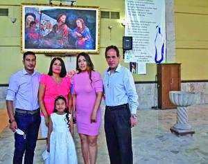 28032021 En el bautizo de Alejandra Carrillo Domínguez, con sus papás Edgar y Rocío. Sus padrinos Margarita y Paco.