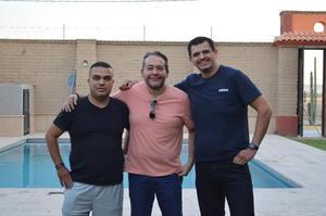 01042021 Jorge Mata, Pablo Hernández y Jesús Casas en reciente reunión de reencuentro.