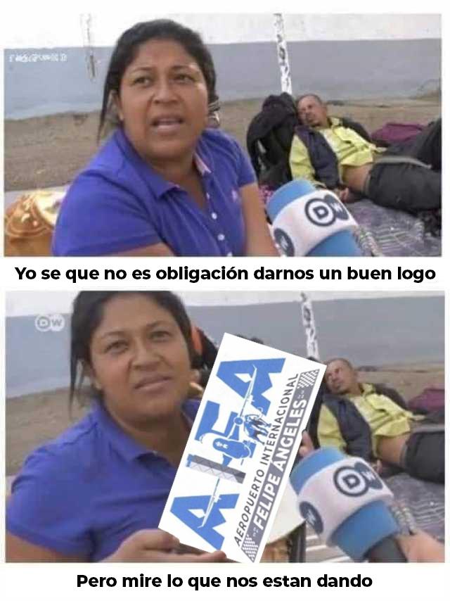 Presunto logo del Aeropuerto Felipe Ángeles desata memes y burlas