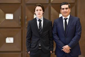11042021 Luis Humberto Wiley con su padrino Martin Macías.