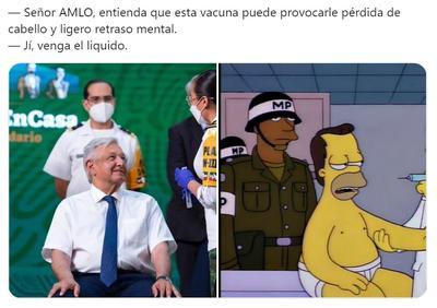 AMLO recibe su vacuna llena de dosis de memes