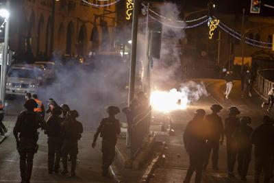 Se registran altercados entre palestinos y Policía de Israel