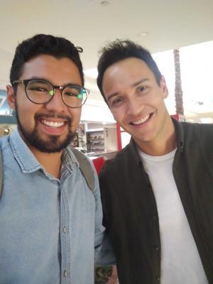 23042021 Víctor Vega y el actor Markin López.