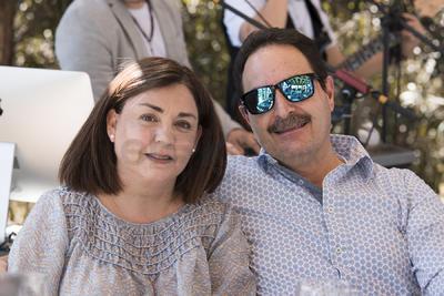 Graciela Gutiérrez y Guillermo Canales.