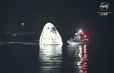 Vuelve a la Tierra nave de SpaceX con cuatro astronautas