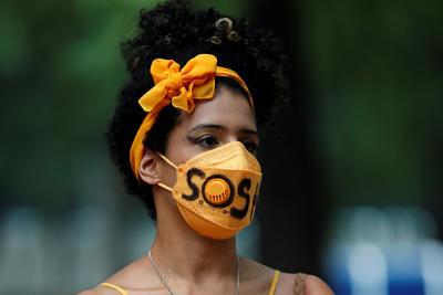 Protestan en la Embajada de Colombia en México contra la represión del gobierno