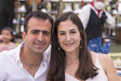 Eduardo Faccuseh y Ana Victoria Peña.