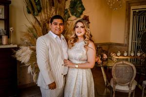 08052021 Elizabeth Saideé Morán Alonso y Saúl Rosas Acosta festejan su boda el día de hoy 8 de mayo del 2021.