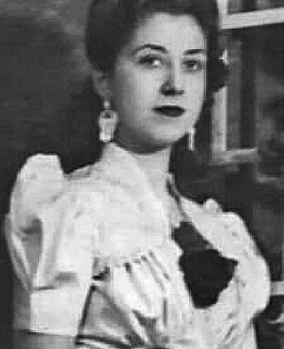 La señora Olivia González Jiménez a sus 19 años. El próximo mes celebra sus 96.