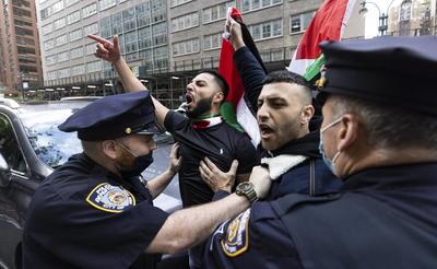 Se manifiestan en Nueva York en apoyo a Palestina