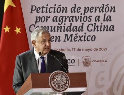 Encabeza AMLO en Torreón petición de perdón por agravios a la comunidad china