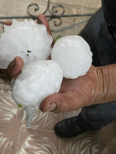 Reportan granizo de 10 centímetros de diámetro en norte de Coahuila