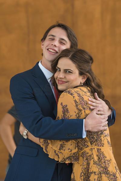 CONFIRMACIÓN. Eugenio Villarreal Russek con su madrina, Velia Martínez.