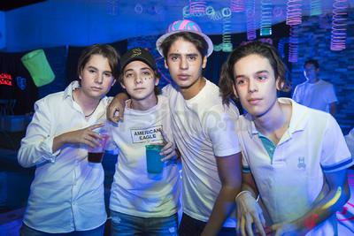 Emiliano Flores, Rodrigo González, Luis Durán y Pablo de la Fuente.