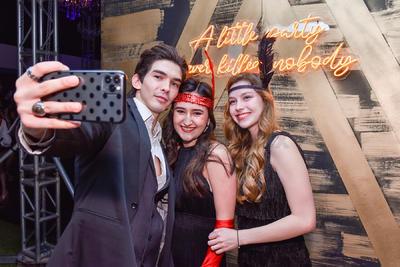 Emilio Jaidar, Astrid Acuña y Sofía Quezada.
