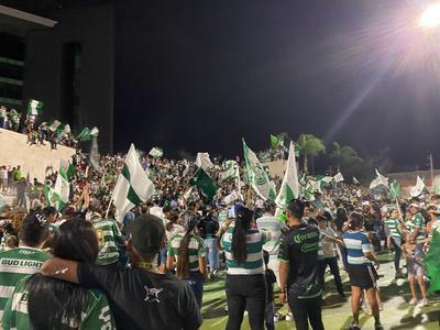 Laguneros festejan pase de Santos Laguna a la final del Guardianes 2021