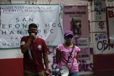 Protestan estudiantes por liberación de normalistas en Chiapas