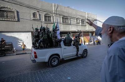 Fuerzas de Hamas conmemoran a milicianos muertos durante conflicto en Gaza