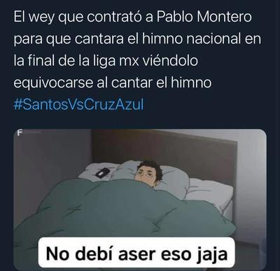 Tunden con memes a Pablo Montero por interpretación del Himno Nacional