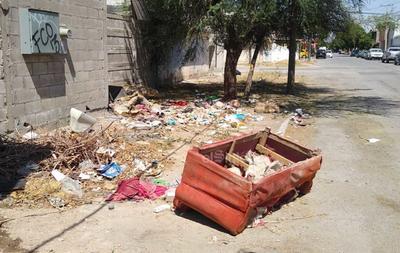 Tiran muebles. Entre la avenida Tercera y calles P y Q de la colonia Eduardo Guerra, al sur del municipio, abundan la basura y el escombro en las banquetas. En algunas ocasiones se han arrojado hasta muebles y ramas secas.