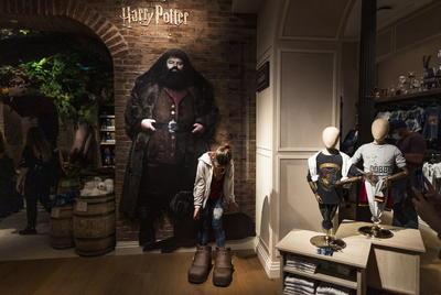 Tras una visita para periodistas previa a la apertura oficial, los escaparates tapados con el logo de Harry Potter ya atraen a muchos transeúntes que paran a hacerse fotos a sus puertas y a admirar el mural diseñado para la ocasión que luce en la fachada de ladrillo del edificio contiguo.