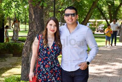 Marisol Flores y Marco Hidrogo.