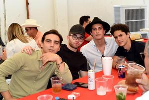 04062021 Fernando Lozoya, Jaime Aguilera Junior, Fernando Garza y Patricio Gómez.