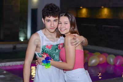 Poncho González y Valentina Benítez.