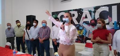 Susy Torrecillas, se proclamó ganadora de la contienda electoral.