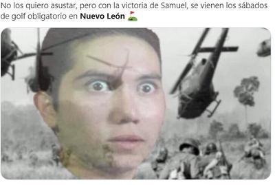 Reciben a Samuel García y Mariana Rodríguez en la gubernatura con memes