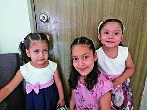 13062021 Las niñas Camila, Pamela y Jocabet Almeida Serna.