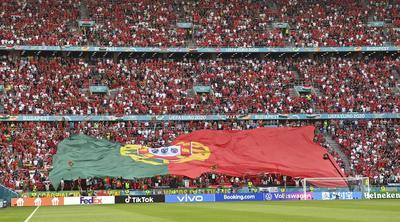 Un estadio lleno y pocas mascarillas en el Hungría-Portugal