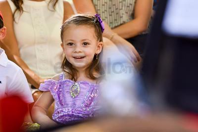 Luisa María celebra sus cuatro años.