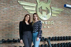 27062021 Diseñadoras del proyecto e imagen corporativa del Gimnasio Hangar, lic. Rubi y lic. Esmeralda Castañeda.