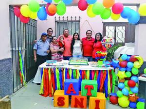 28062021 Festejo del primer cumpleaños de Santiago Ismael, familias  Ríos y García.